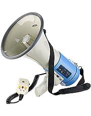 Infactory megáfono: Megáfono MP3 con grabación de Voz, Reproducción Desde USB, SD y AUX, 50 vatios (Megáfonos con MP3 Jugadores)