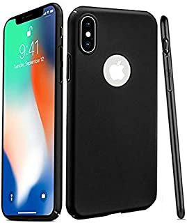 iPhone X/iPhone Xs Case - iPhone X/iPhone Xs Thin Case with 2 Glass Screen Protectors - Order Your Cool, Black, and Ultra Slim iPhone X/iPhone Xs Cover That Supports Wireless Charging.