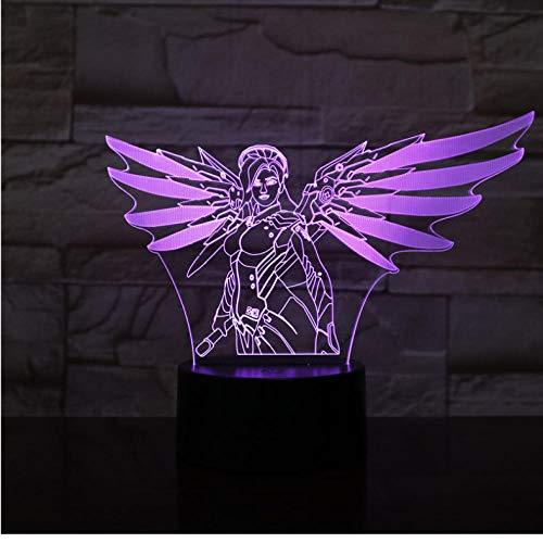 Djkaa 3d lamp tafel slaapkamer action figuur decoratieve lamp 7 kleuren veranderende LED nachtlicht wooncultuur