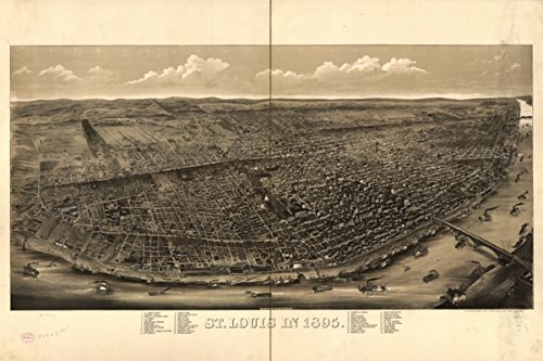 INFINITE PHOTOGRAPHS Map: 1895 St. Louis in 1895|Missouri|Saint Louis|Saint Louis Mo|