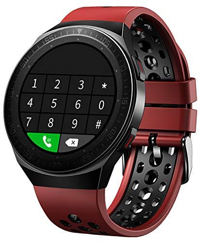 YGMDSL Fitness Tracker Smart Watch Hombres Actividad Fitness Tracker SmartWatch Bandas Pulsera Deportiva Bluetooth Llamada Pantalla táctil Completa Memoria Impermeable Música (Red)