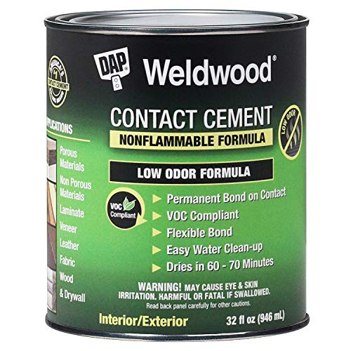 Dap 25332 Weldwood Nonflammable Contact Cement, 1-Quart