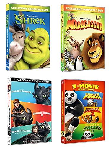 Shrek + Madagascar + Dragon Trainer + Kung Fu Panda (4 Cofanetti DreamWorks delle Serie Complete - 13 DVD) Ed. Italiana