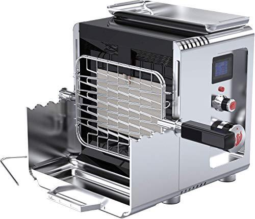 LANDMANN Hochtemperaturgrill 'LANDMANN 800' | 800 Grad Leistung - perfekte Steaks und viele andere Gerichte | Senkrecht eingebauter Brenner, integrierte Piezozündung | Edelstahlausführung