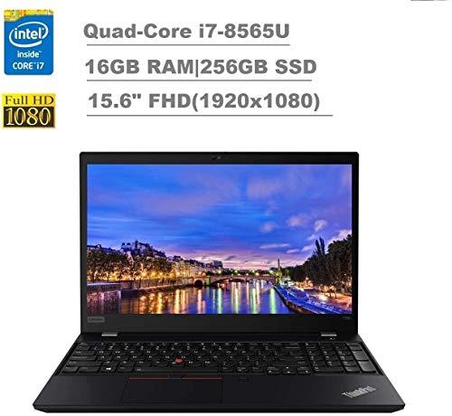 2020 Lenovo ThinkPad T590 15.6' FHD Full HD (1920x1080) Business Laptop (Intel Quad-Core i7-8565U, 16GB RAM, 256GB SSD) Backlit, Type-C Thunderbolt 3, RJ-45, Webcam, Windows 10 Pro IST Computers