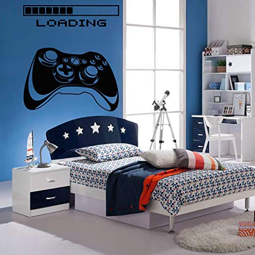 JXND Wandaufkleber Spiel Spieler Load Controller Spiel Aufkleber Home Decor Entwickelt für Kinderzimmer Vinyl Wandaufkleber 75x84cm