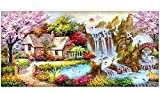 SanerDirect Diy 5d Diamond Painting Kits, Full Canvas Round Drill Painting with Diamonds for adults, Paint by Diamonds for Dream Home Decoration Art Craft 40x16 inches