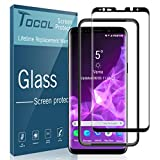 TOCOL for Samsung Galaxy S9 Screen Protector 9H Hardness Tempered Glass HD Clear 3D Curved [Scratch-resistant Bubble Free] with Easy Installation Tray