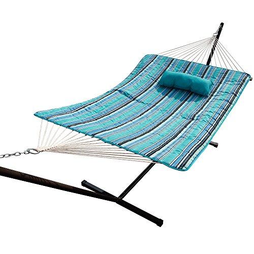 Island Umbrella Island Retreat Hammock Pillow & Pad Set, Blue