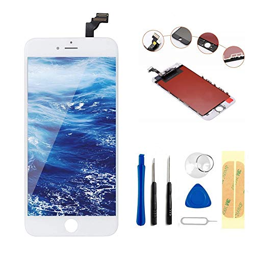 Master Screen for iPhone 6 (4.7 inch) Screen Replacement LCD Digitizer Replacement Frame Display Assembly Set(Free Tools Included)(white)