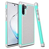 Venoro Galaxy Note 10 Case, Slim Hybrid Dual Layer Anti Scratch Shockproof Rugged Phone Protection Case Cover for Samsung Galaxy Note 10 6.3inch (Green)