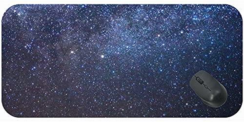 Alfombrilla de ratón de Juego Personalizado extendido, Estrellas Espacial Estera de Escritorio Galaxy con Borde Cosido