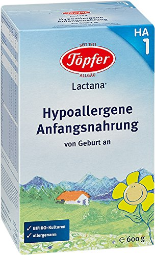 Töpfer Lactana HA1, Hypoallergene Anfangsnahrung, 600g