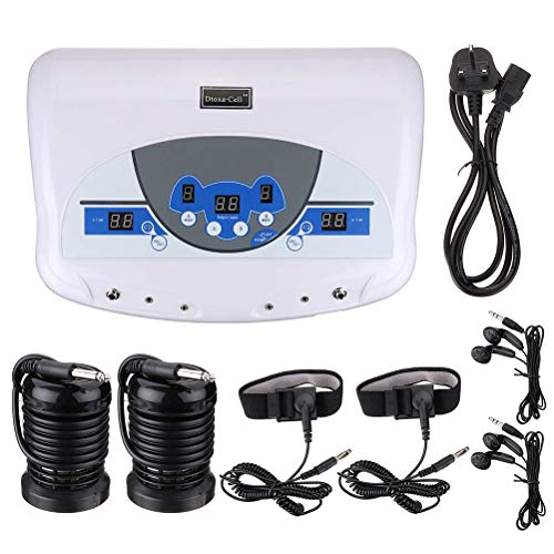Wanforjewellery Foot Bath Detox Machine, Dual Ion Cell Detox Ionic Foot Bath Spa Cleanse Machine with LCD & Infrared Cell Cleanse MP3 Arrays