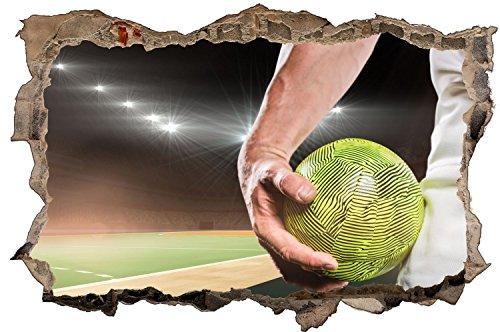 Handball Ball Spielfeld Sport Wandtattoo Wandsticker Wandaufkleber D0621 Größe 60 cm x 90 cm