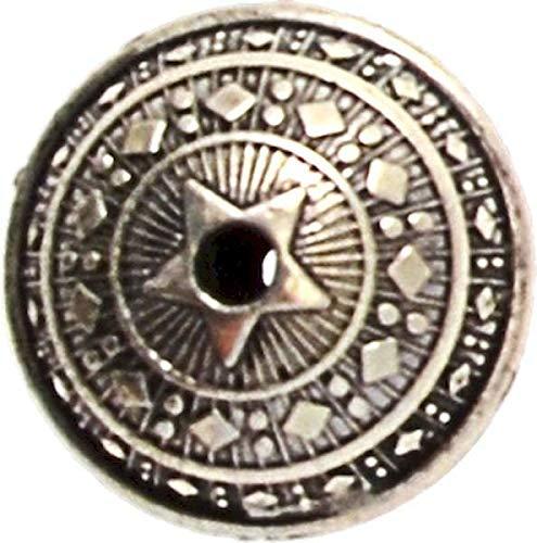 MegaCrea Perle métal Ronde Plate 28 mm Argenté