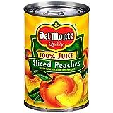 Del Monte Sliced Peaches in 100% Juice, 15 oz., 12 per case