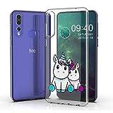 JIENI Hülle für HTC Desire 19 Plus,Weich Silikon Transparent Flexibel Wie die Liebe Schutzhülle Stoßkasten Handyhülle Hülle Bumper Handytasche TPU Schale Cover für HTC Desire 19 Plus (6.2