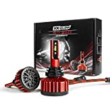 XKGLOW H11 / H8 / H9 Elite Series 6000k Bright White 6,000lm LED Headlight Conversion Kit - Replacement Headlight Bulb for Halogen