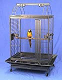 """Elegant Wrought Iron construction; Huge, dometop-style large bird cage provides the space your larger bird deserves Outside Dimensions: 36"""" x 26"""" x 68""""H(Not Include Seed Guard, With Playtop); Inside Dimensions: 36' x 26"""" x 43""""H Bar Spacing: 1"""" Huge a..."""
