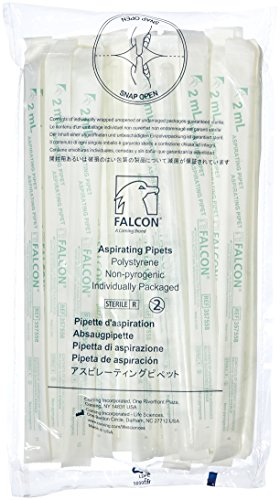 Corning Falcon 357558 Polystyrene Aspirating Pipet, Sterile, 2mL Capacity (Case of 200)