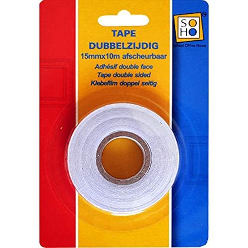 SOHO Tape dubbelzijdig 15mmx10m