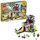 LEGO Creator - Parque de Patinaje Modular, Juguete 3 en 1 Creativo de Construcción con 2 Minifiguras para Recrear Aventuras y Construir Diferentes Escenarios (31081)