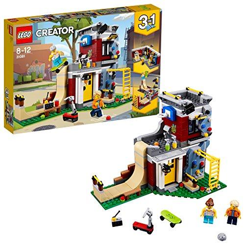 LEGO Creator - Parque de Patinaje Modular, Juguete 3 en 1 Cr