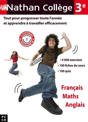 Nathan collège français maths anglais 3e 2009/2010