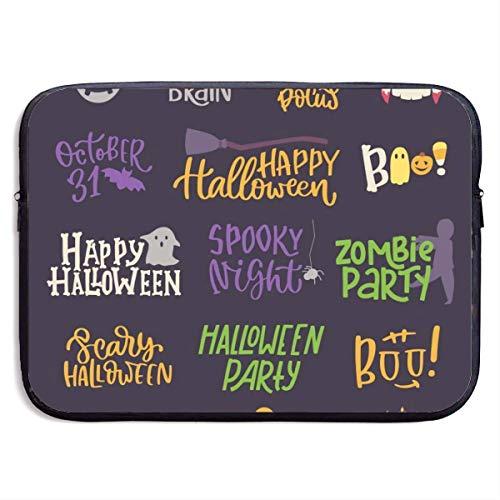 hon-ey WE Laptop-Tasche Happy Halloween handgeschriebene Schrift Inschrift Zitat, Kalligraphie Handtasche kompatibel 13-13,3 Zoll & 15 Zoll