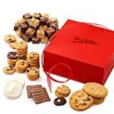 Mrs. Fields Cookies Crimson Treat Box - Includes Nibblers Bite-Sized Cookies, Brownie Bites, Original Cookies, Frosted Cookies & Chocolate-Covered Graham Crackers