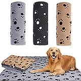 JPYH 3 pezzi Mantas Suaves Felpa,Pequeña Impresión Paño Grueso y Suave Manta Suave, 100 cm x 70 cm para Perros Gatos Conejos y Otras Mascotas