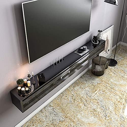 PPOIU Consola Multimedia montada en la Pared Gabinete de TV Soporte de TV Flotante Centro de Entretenimiento Mesa de Consola de TV con Puertas de gabinete Estante de Pared de TV Colgante