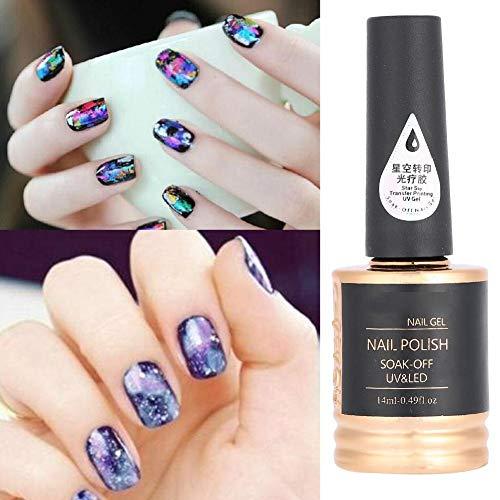 Hermoso gel para decoración de uñas, adhesivo de transferencia de uñas duradero...