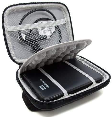 """WERICO Funda rígida para Western Digital WD Elements WD My Passport Ultra WD Gaming Disco Duro Externo Portátil 1TB 2TB 3TB 4TB 5TB USB 3,0 2,5"""" HDD Bolsa de Viaje Antigolpes"""