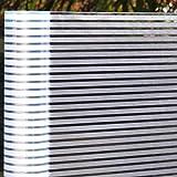 LMKJ 3D Frosted Stripe Window Film, electrostatic Self-Adhesive Glass Vinyl Sticker, Household Window Decoration Film A61 60x100cm