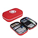Kit de primeros auxilios, set de primeros auxilios de emergencia para el hogar al aire libre con estuche de EVA, bolsa de primeros auxilios para uso en el automóvil de la oficina en el hogar de viaje