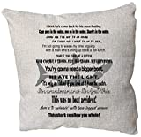 DKISEE Jaws Movie Quote Throw Pillow Cover, Jaws Gift, Your Going to Need A Bigger Boat, Movie Jaws, Jaws Print, Cotton Linen Square Decorative Pillow Case Cushion, 18x18 Inch