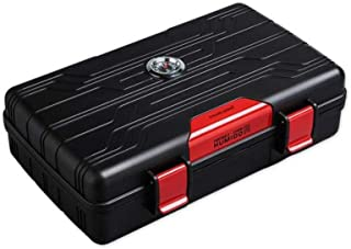 YZT Cigar Box, Cigar Humidor Large Capacity Double Humidifier Cigar Box, Suitable for Smokers' Cigar Humidors and Cigar Accessories, Multi-Color Optional (Color : Red, Size : 21.5 * 12.3 * 5.5cm)