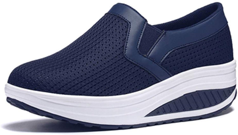 Elsa Wilcox Women Slip-On Mesh Walking shoes Lightweight Nurse Casual Moccasin Loafers Driving shoes Wedges Platform Sneaker
