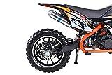 Actionbikes Motors Mini Kinder Crossbike Gepard 49 cc - Scheibenbremsen - Sportluftfilter - Sportauspuff - Luftbereifung (Orange) - 9