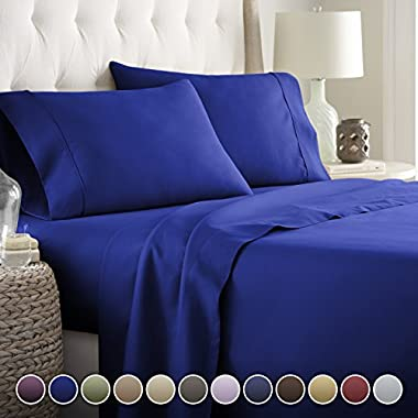 Hotel Luxury Bed Sheets Set Today! On Amazon Soft Bedding 1800 Series Platinum Collection-100%!Deep Pocket,Wrinkle & Fade Resistant (King,Royal Blue)