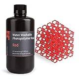 ELEGOO Imprimante 3D lavable à l'eau Résine rapide Résine LCD pour traitement UV Résine photopolymère standard 405nm pour impression 3D LCD Rouge 1000Gram