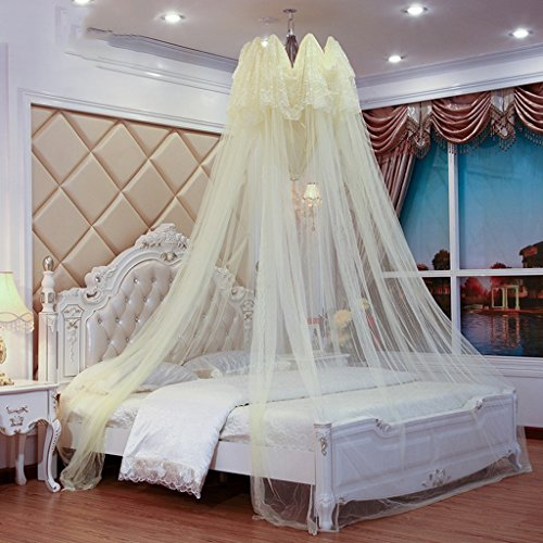 Review Of CHANG XU DONG US Lace Dome Mosquito Net Easy Open and Closed Bed Canopy Big Space Ultra Fi...