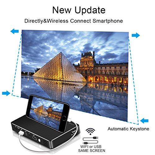 Mini proyector Full HD, yaufey DLP Pico proyector 150 ANSI lumens ...