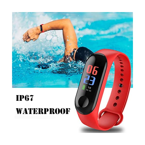 Fitness Trackers,Pantalla de Color Impermeable Monitor de Ritmo cardíaco Pulsera Inteligente Podómetro Contador de… 3