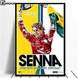 xiangpiaopiao Ayrton Senna Poster Formel 1 Poster Und