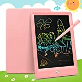 Bravokids Toys for 3-6 Years Old Girls Boys, LCD Writing Tablet 10 Inch Doodle Board, Electronic Drawing Tablet Drawing Pads, Educational Birthday Gift for 3 4 5 6 Years Old Kids and Toddlers (Pink)