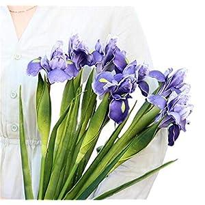 Silk Flower Arrangements 6 PCS Artificial Irish Flower High-End Pu Artificial Flower PU Feel Alice Iris Artificial Flower Wedding Decoration