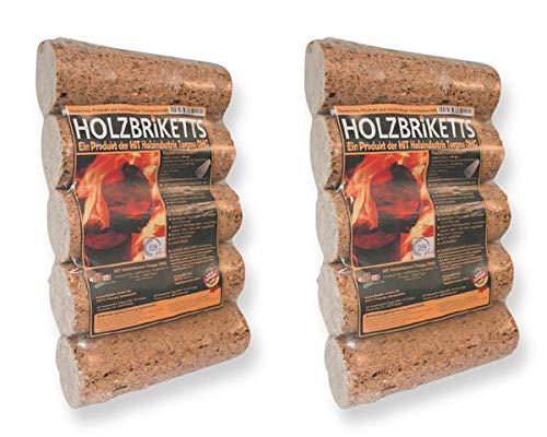 Holzbriketts rund ohne Loch 20 kg - besonders geeignet für das Anheizen - Reines Nadelholz
